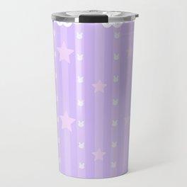 Kawaii Purple Travel Mug