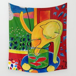 Henri matisse The cat with the red fish Wall Tapestry