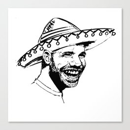Drake in Sombrero Canvas Print