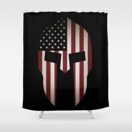 USA Spartan  Shower Curtain