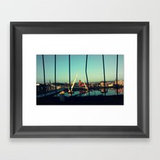 Between the Bars Framed Art Print