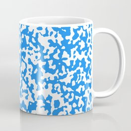 Small Spots - White and Dodger Blue Coffee Mug