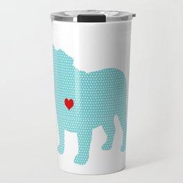 English Bull Dog Art Travel Mug
