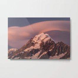 Mt Cook Summit Metal Print