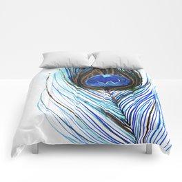Peacock Feather III Comforters