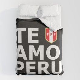 Te Amo Peru Comforters