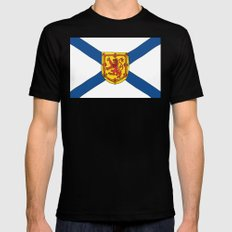 The Flag of Nova Scotia  Mens Fitted Tee Black SMALL