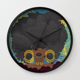 SHE KNOWS HER WORTH Wall Clock