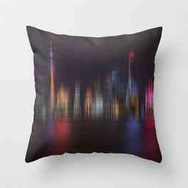 Shanghai Skyline III Throw Pillow