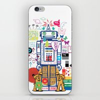 coldplay iPhone & iPod Skins featuring we live in a beautiful world by Giulia De grazi