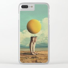 Lone Poker-Face Clear iPhone Case