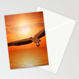 White  Eagle Stationery Cards