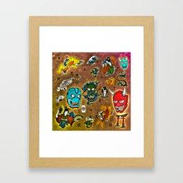 Japanese Collage Framed Art Print
