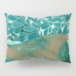 Teal Layers Pillow Sham