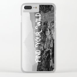 FIND YOUR WILD II Clear iPhone Case