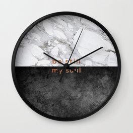 Be Still My Soul Copper Wall Clock