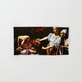 Caravaggio Judith Beheading Holofernes Hand & Bath Towel