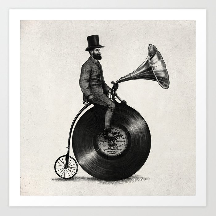 Music Man (monochrome option) Art Print