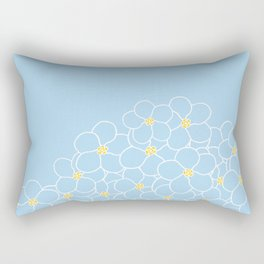 Forget Me Knot Blue Boarder Rectangular Pillow