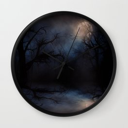 Haunted Forest Wall Clock
