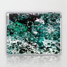 Turquoise Bubbles Photograph Macro photo Laptop & iPad Skin