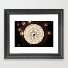 Party Lights Framed Art Print
