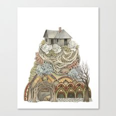 Sweet Home I // Forest Illustration Canvas Print