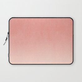 Coral ombre trendy girly trend college life dorm decor office minimalism Laptop Sleeve