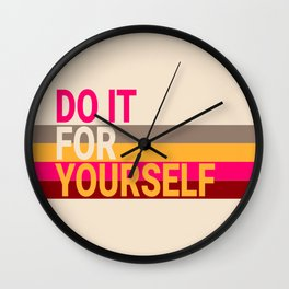 Do it For Yourself Vanilla Strawberry Wall Clock