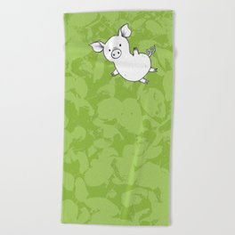 Piggy Beach Towel