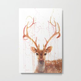 Fairy Deer Metal Print