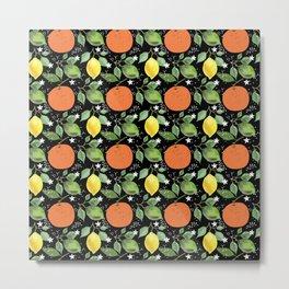 Aromatic Citrus Fruit Metal Print