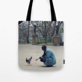 Feed the Cockerel Tote Bag