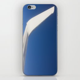 Airplane Wingtip on a blue sky iPhone Skin