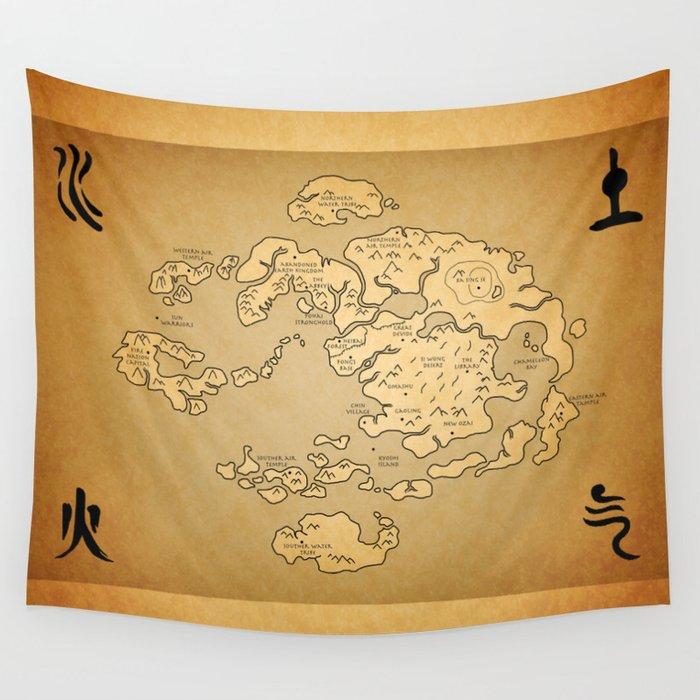 Avatar Last Airbender Map Wall Tapestry by kewlzidane | Society6