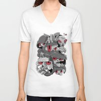 marauders V-neck T-shirts featuring Midday Marauders by Chent Sanchez