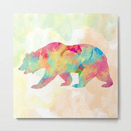 Abstract Bear Metal Print