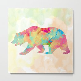 Abstract Bear Metal Print