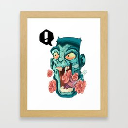 Zombie. Framed Art Print