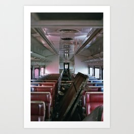 Abandoned Train Art Print