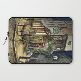 Postcards from Paris - Montmartre by Night: Le Basilic Brasserie Laptop Sleeve