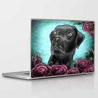 lab Laptop & iPad Skins featuring Black Lab... by Lily Fitch
