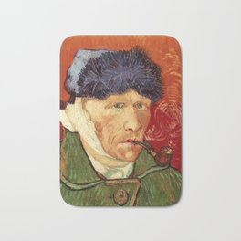 Vincent van Gogh Self-portrait with Bandaged Ear and Pipe Bath Mat