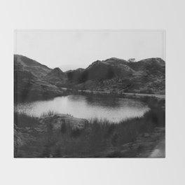 Fairy Glen, Isle of Skye, B/W Throw Blanket