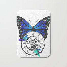Butterfly Pocketwatch Painting Bath Mat