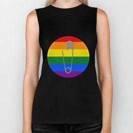 Gay Rights Safety Pin Biker Tank