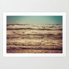 Ocean Waves - Blue Sea Sky in California Art Print