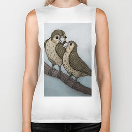 Love sparrows Biker Tank