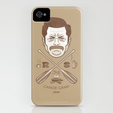 Ron Swanson Canoe Camp (dirty brown variant) iPhone (4, 4s) Slim Case