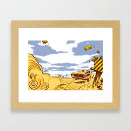 out of here Framed Art Print